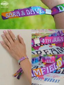 boho wedding woven festival wristbands