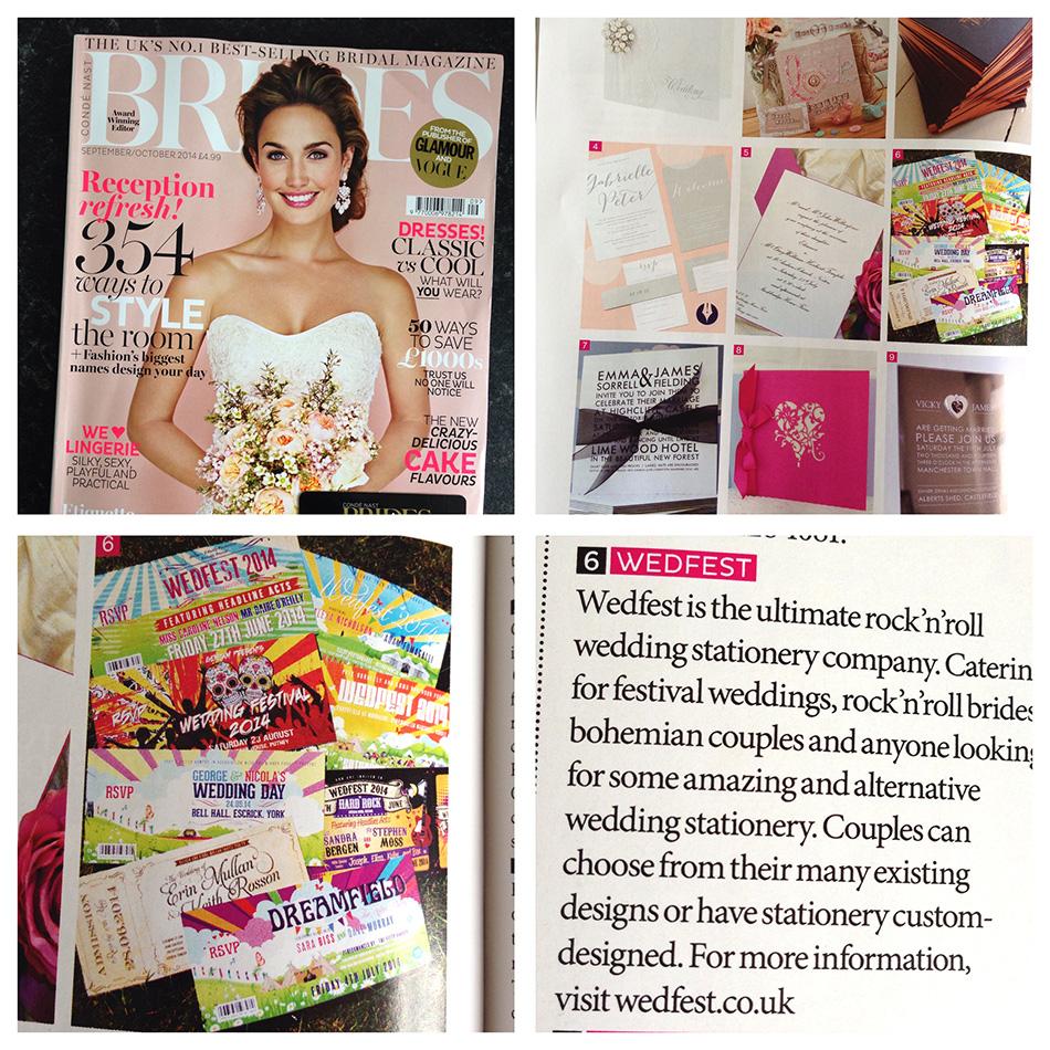 brides magazine wedfest wedding stationery