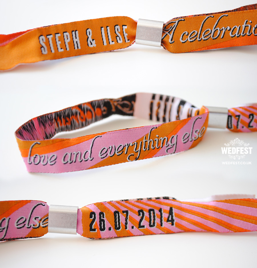 custom personalised wedding wristbands