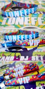 festival birthday party wristbands invites