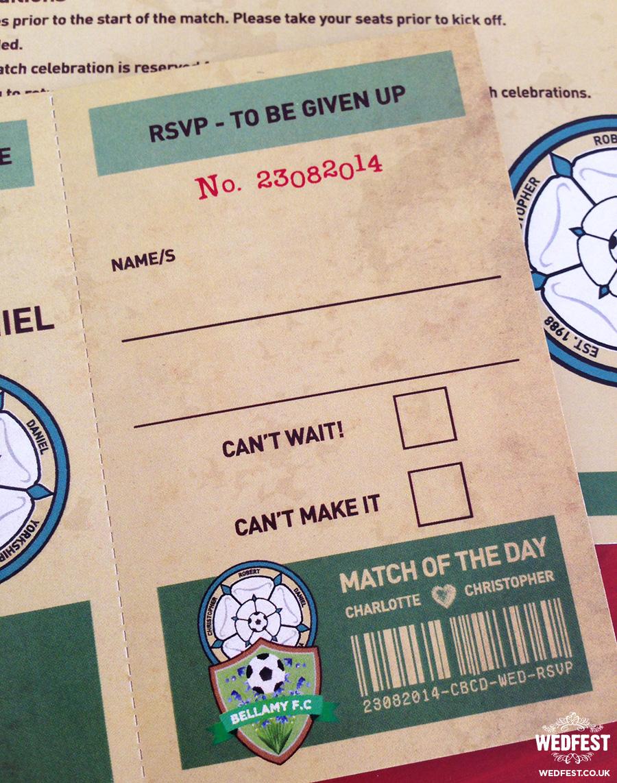 Vintage Football Ticket Wedding Invites Wedfest
