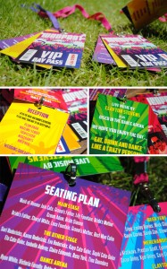 wedfest festival themed wedding programs