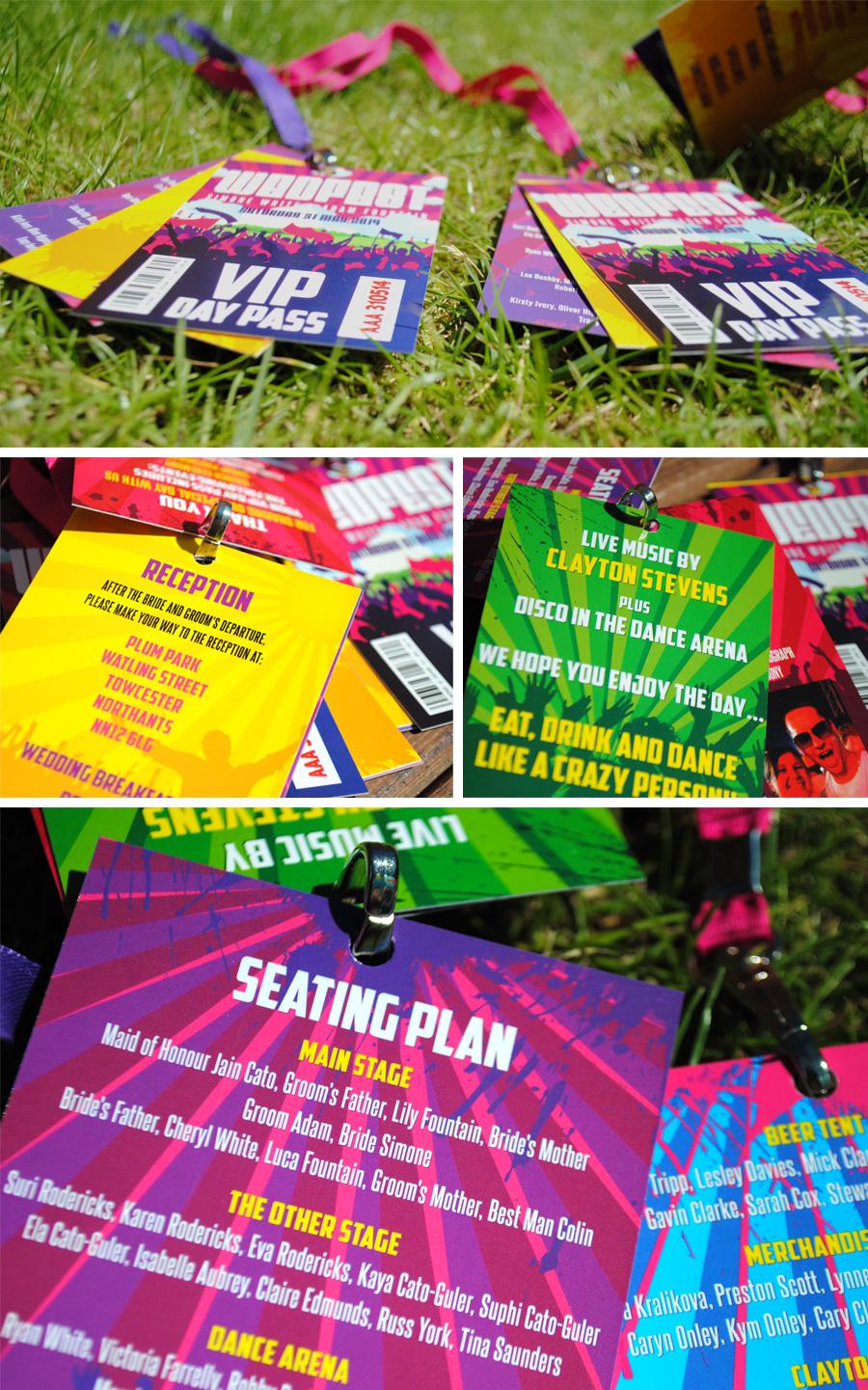 wedfest festival themed wedding programmes