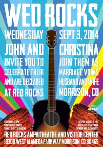 Red Rocks Amphitheatre Wedding Invites