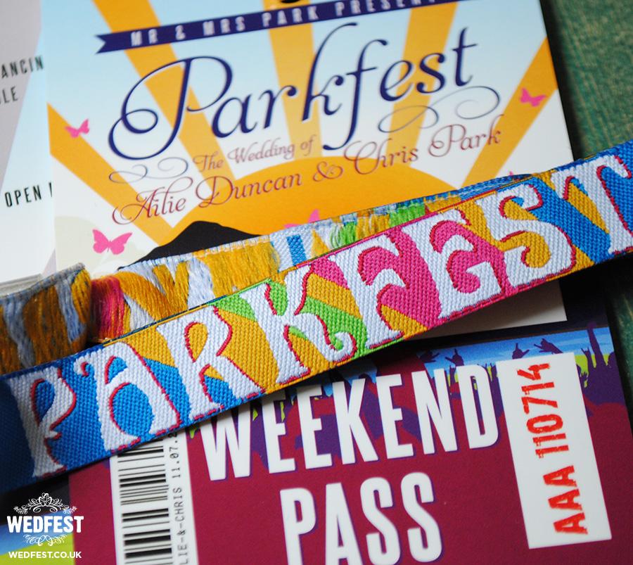festival style wedding stationery