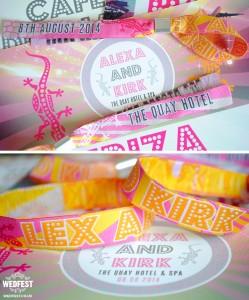 festival wedding wristbands ibiza theme