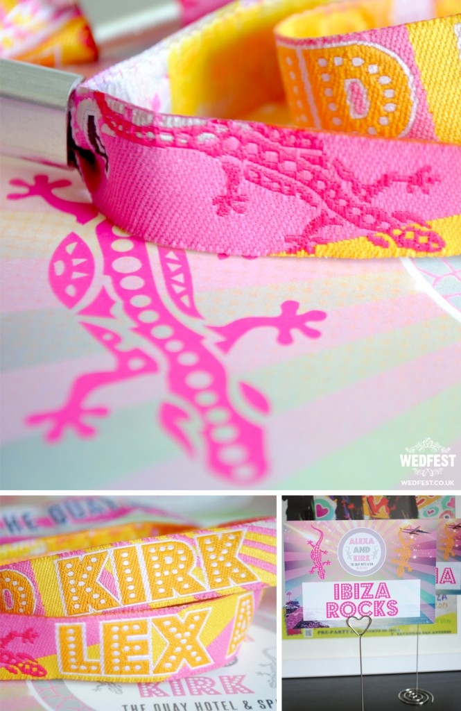 ibiza lizard wedding wristbands