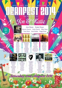 music festival themed wedding table plan