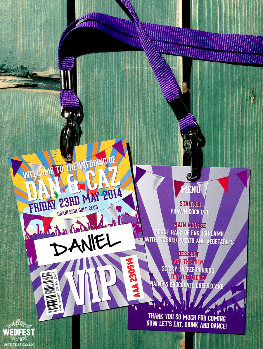 wedding festival vip lanyards
