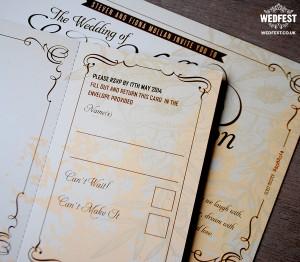 Vintage Festival Wedding Invitations