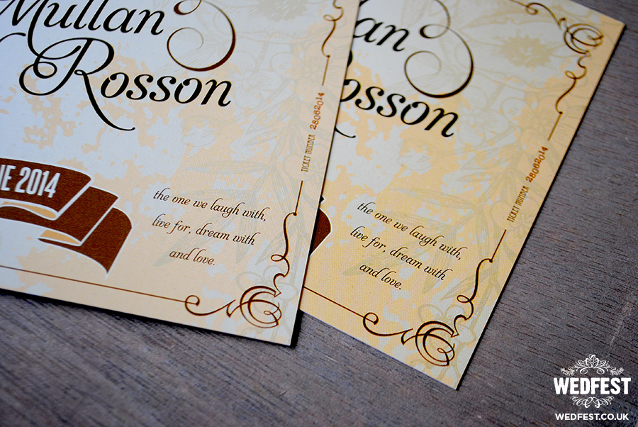 Vintage Themed Festival Chic Wedding Invitations