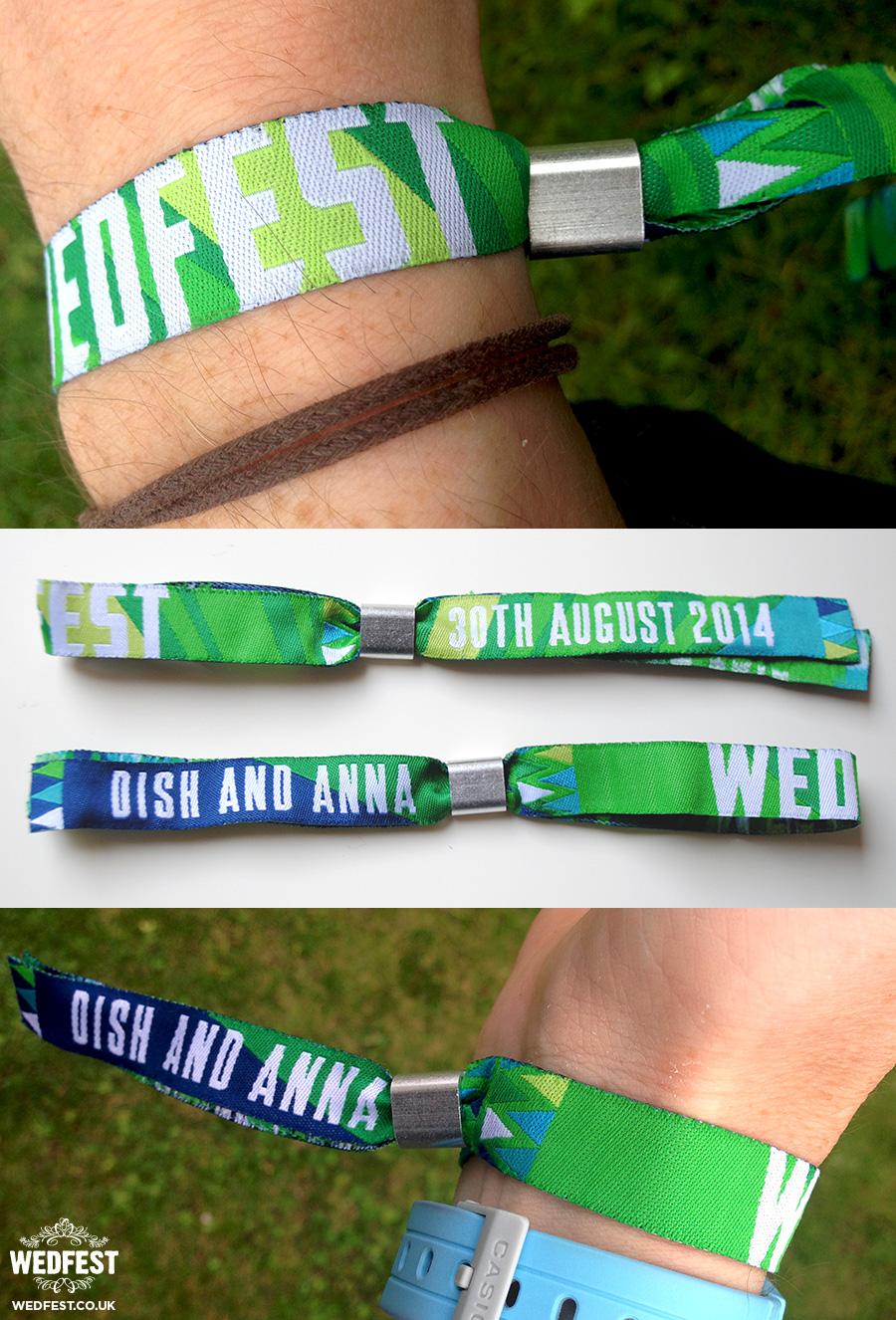 custom festival wedding wristbands