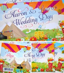 festival teepee tipi ticket wedding invitations
