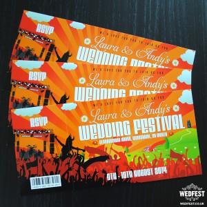 festival wedding invitations ireland
