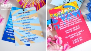 festival wedding order of service program