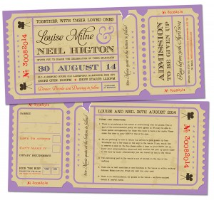 movie ticket wedding invites