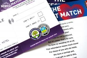 perfect match football tickets wedding invitations