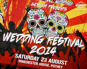 sugar skull rock n roll wedding invites