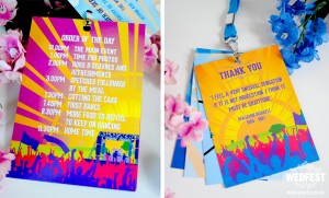 wedding order of the day programme lanyards