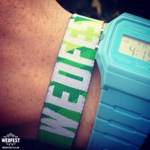wedfest custom personalised-festival wedding wristbands