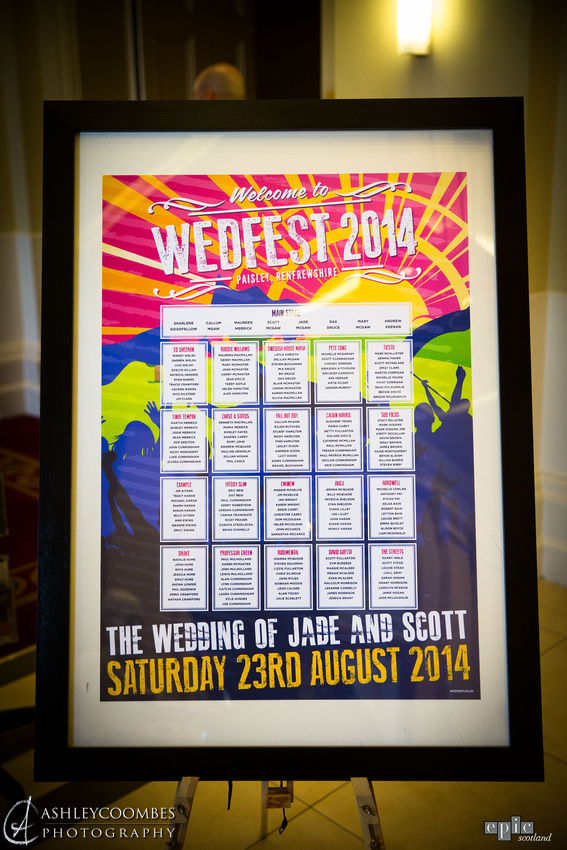 wedfest festival wedding seating plan