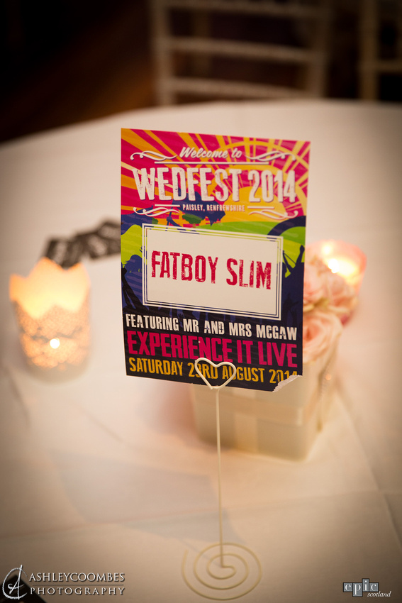 wedfest festival wedding table names