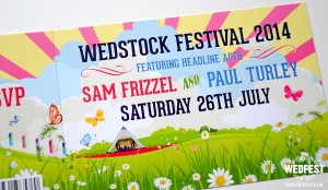 wedstock festival ticket wedding invites