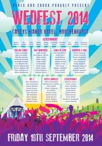 Music Festival Themed Wedding Seating Plan