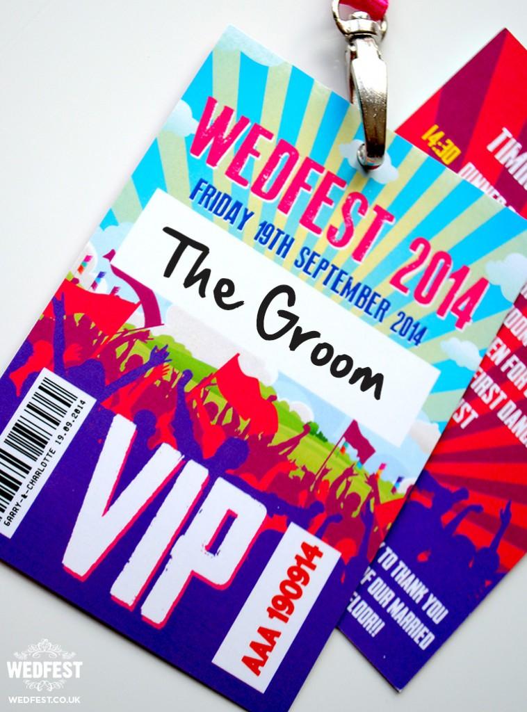 Music Festival Themed Wedding Stationery