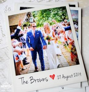 Polaroid Photo Wedding Thank You Cards