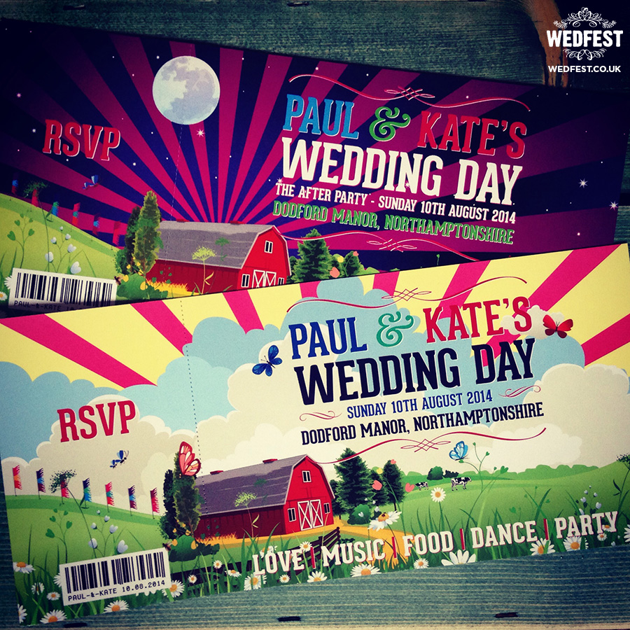 barn wedding invitation