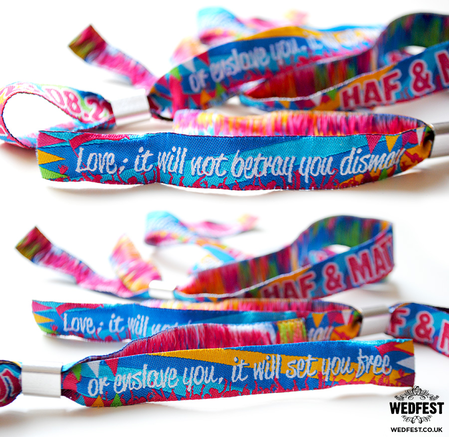 Fabric Wristbands for Events / Weddings / Parties | WEDFEST