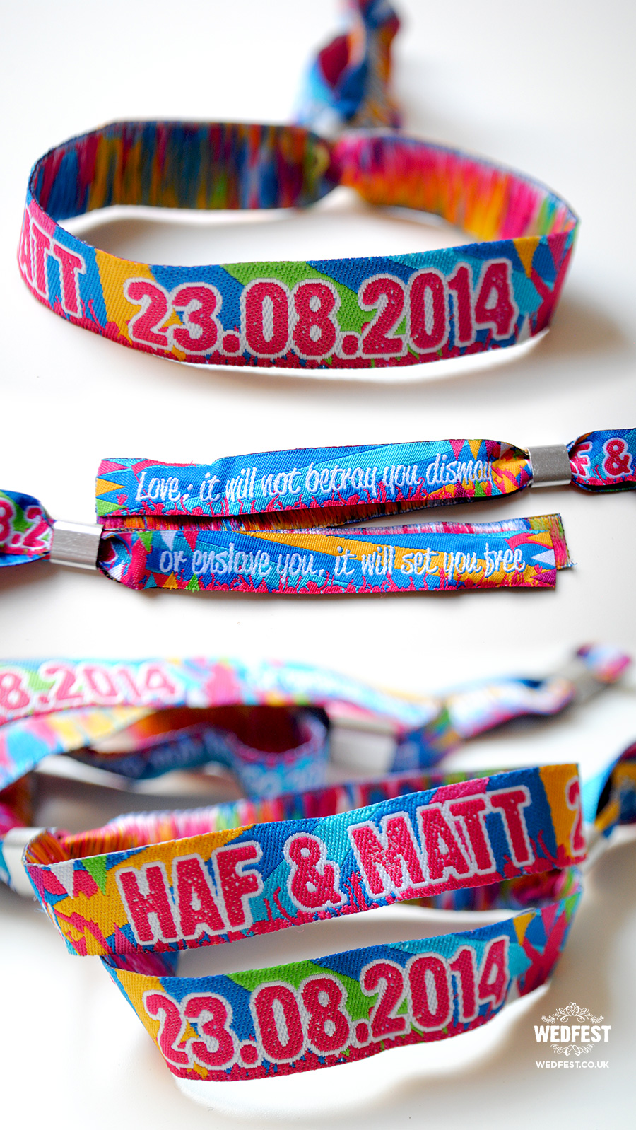 fabric wristbands for weddings and events