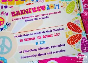 flower power themed wedding invitations