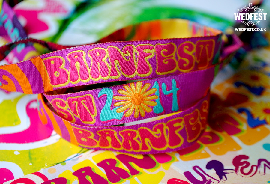 flower power wedding wristbands