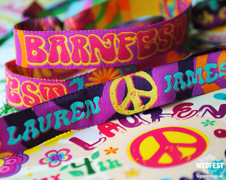 hippie boho wedding festival wristbands
