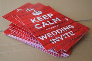 keep calm carry on wedding invites