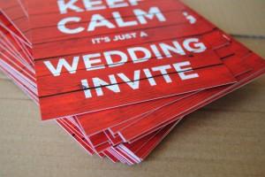 keep calm wedding invitations