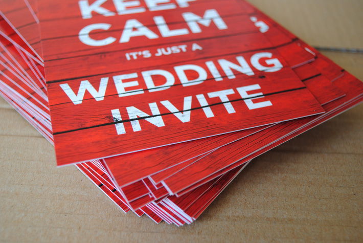 keep calm wedding invitations