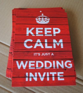 keep calm wedding invites