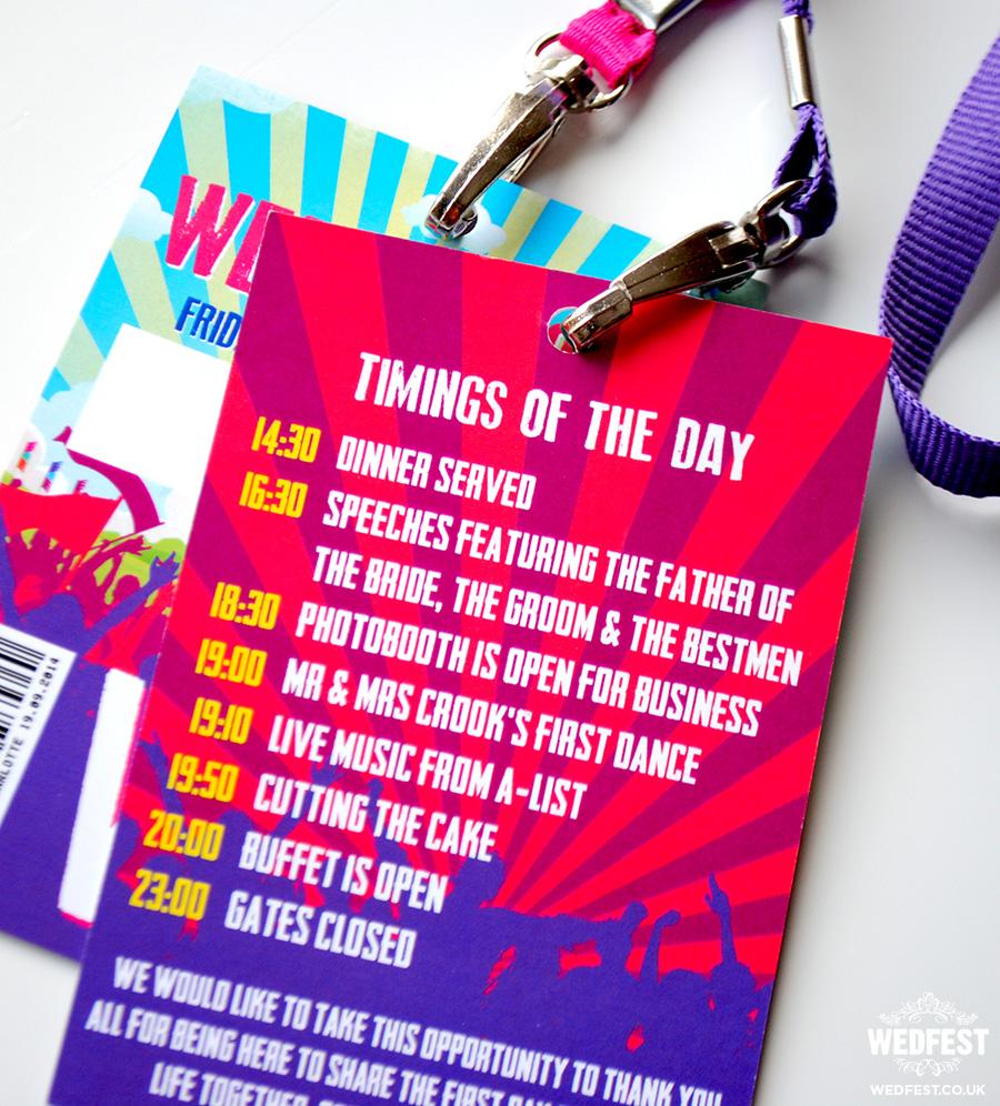 music festival wedding programs