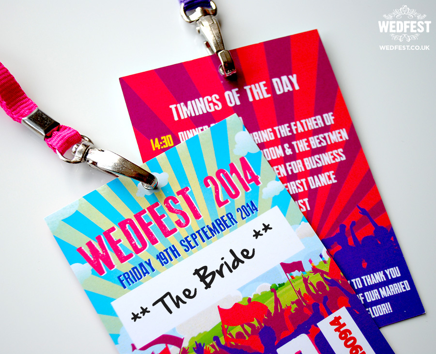 music festival wedding vip place names