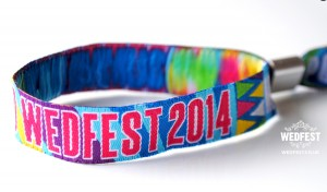 music festival wedding wristbands
