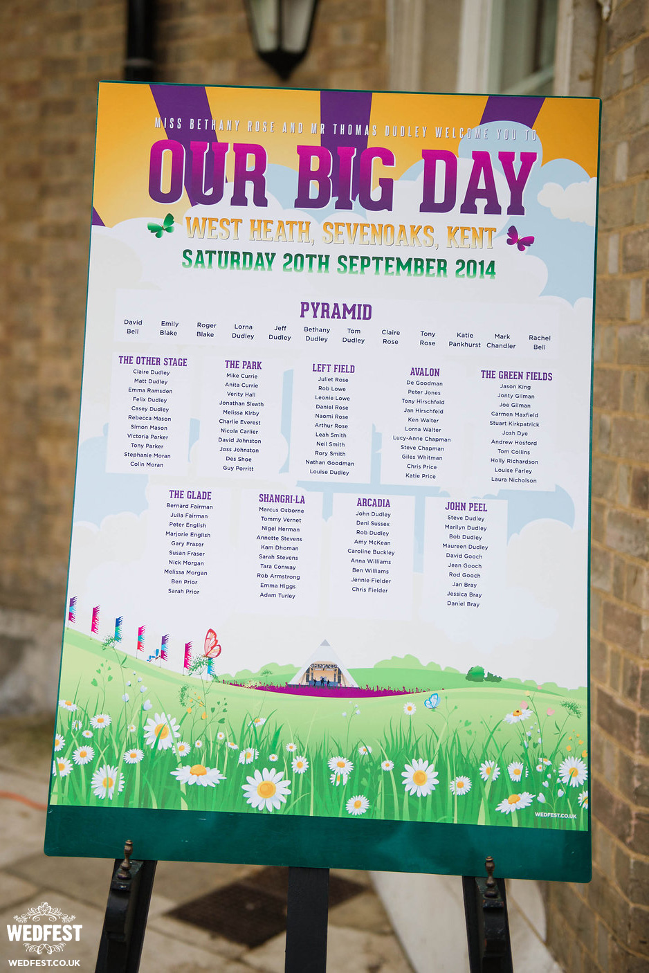 our big day festival wedding table plan