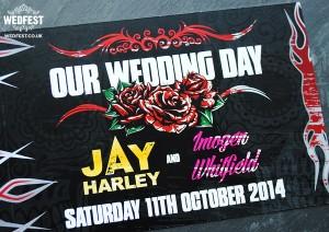rock n roll wedding invites