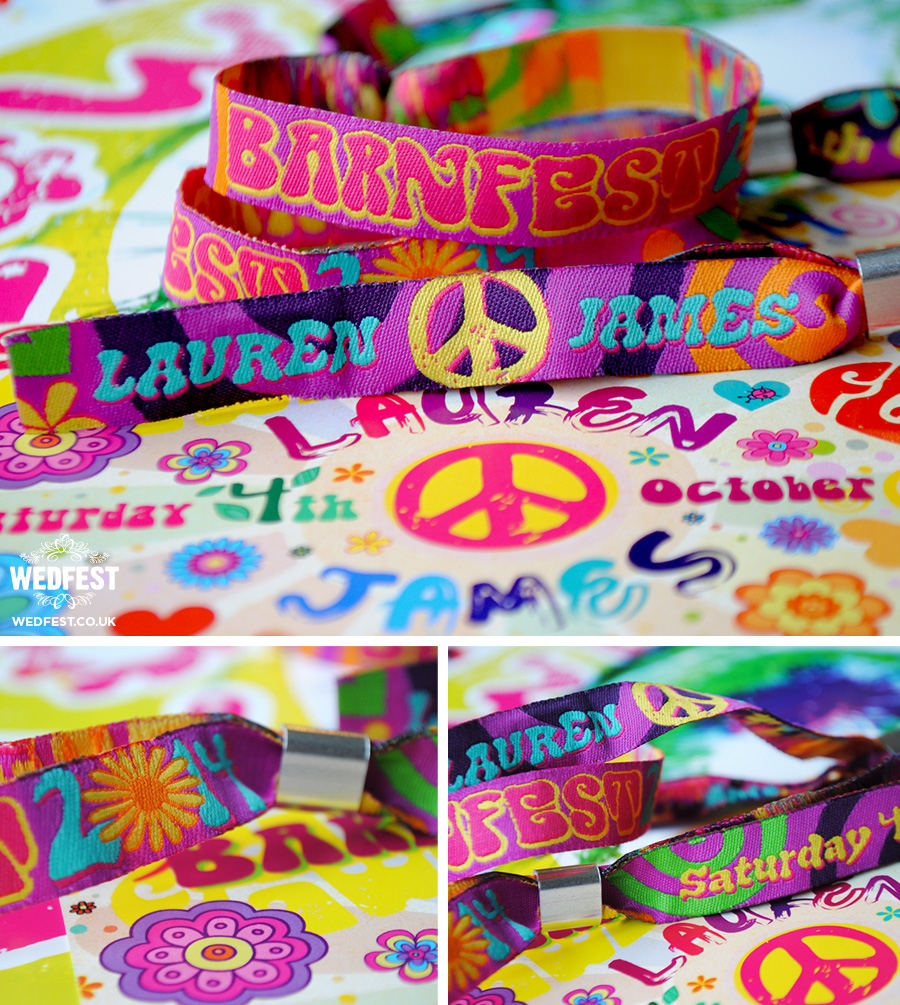 unique wedding stationery wedding festival wristbands