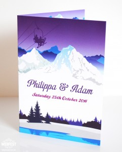 Ski Theme Wedding Invitations