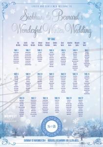 Wonderful Winter Wedding Table Plan