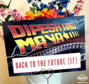 Back to the Future wedding stationery