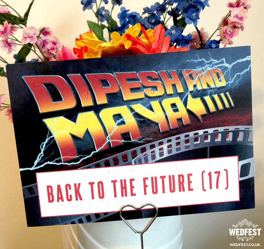 Back to the Future themed wedding